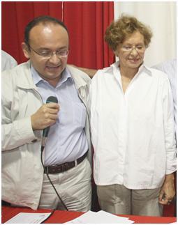 Igor Lago e sua mãe Clay Lago