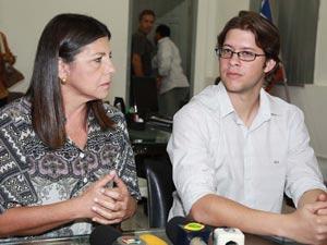 Governadora e o prefeito Leo Coutinho