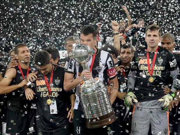 Foto do Portal Terra. Atlético-MG vence por 2x0 no tempo normal e conquista o título nas penalidades