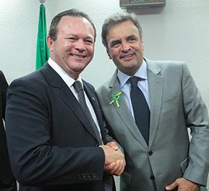 Carlos Brandão e Aécio Neves
