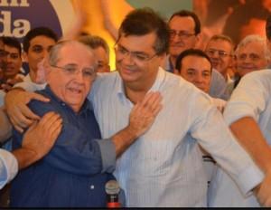 João Castelo e Flávio Dino, agora aliados.