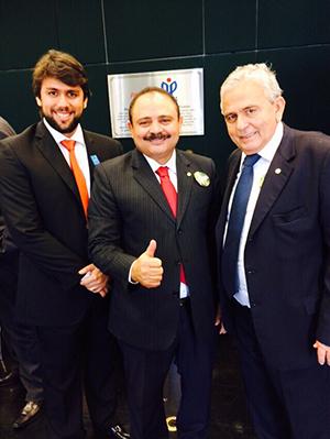 Waldir Maranhão entre o vereador Pedro Lucas e o deputado Pedro Fernandes, <a href=