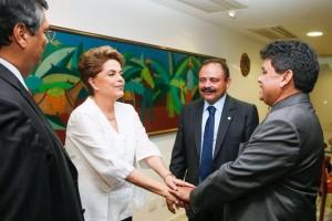Waldir Maranhão ao lado de Dilma, <a href=
